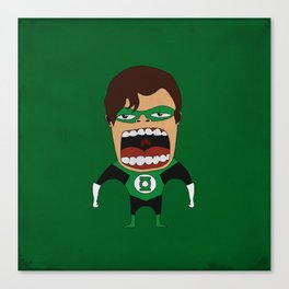 Screaming Green Lantern Canvas Print