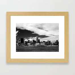 Rising From the Clouds Framed Art Print