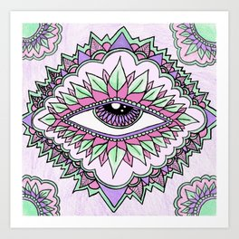Third Eye Flower Art Print