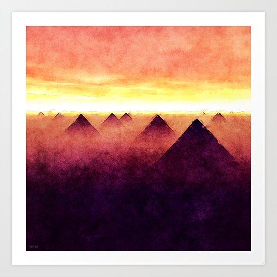 Pyramids At Sunrise Art Print