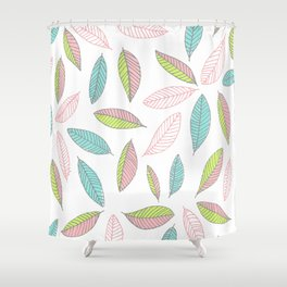 Bright Falling Leaves Shower Curtain