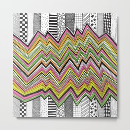Stripes and Zig Zags Metal Print