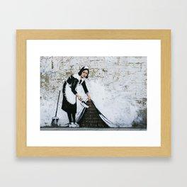 Banksy, Dirty Framed Art Print