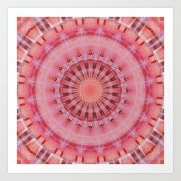 Mandala coral and pink Art Print