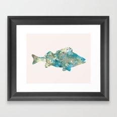 Fish in pink Framed Art Print