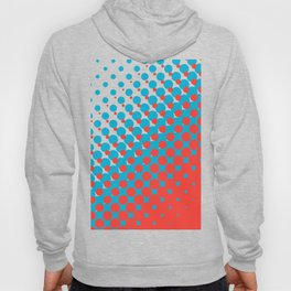Blue and red halftone pattern Hoody