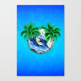 Tropical Surfer Canvas Print