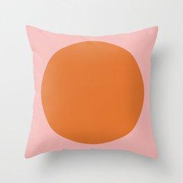 Groovy Dot Pink and Orange Minimalist Throw Pillow