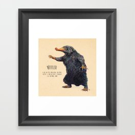 Niffler art Fantastic Beasts Framed Art Print
