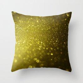 Glitter bokeh texture 8 Throw Pillow