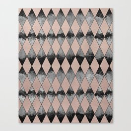 Geometric Diamond Glam #1 #geo #decor #art #society6 Canvas Print