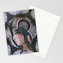Determination. A portrait of a young girl Stationery Cards