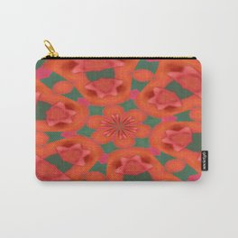 Succulent Red and Yellow Flower Abstract 2 Carry-All Pouch