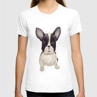 frenchie T-shirts featuring Frenchie  by craftberrybush