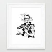 tank girl Framed Art Prints featuring Tank Girl by Liana Buszka