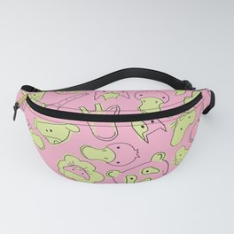 Baby Forest Animals Pattern in Pink Fanny Pack