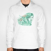 ships Hoodies featuring Paper ships by Pendientera