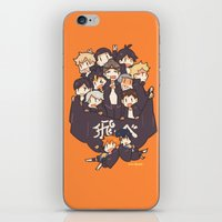 haikyuu iPhone & iPod Skins featuring Haikyuu!! Karasuno Team by Kim Quim