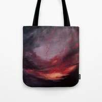 cargline Tote Bags featuring Day Break by cargline
