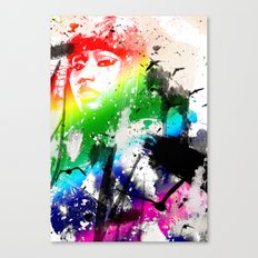 Colorful woman Canvas Print