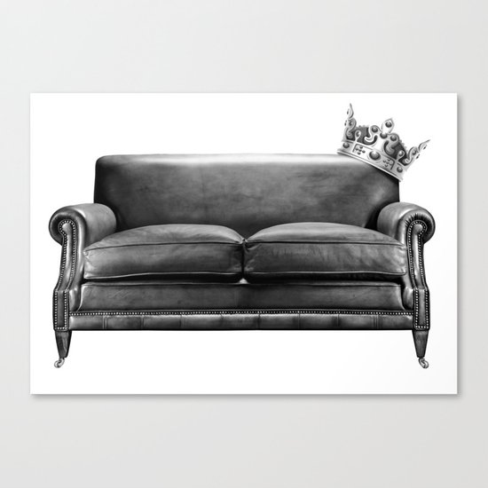 Sofa King Canvas Print