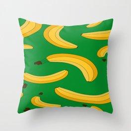 Banana fruit pattern Throw Pillow