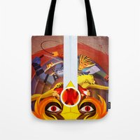 thundercats Tote Bags featuring HO by modHero