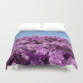 "View of ""Mount Rhodendron"" on a clear day Duvet Cover"