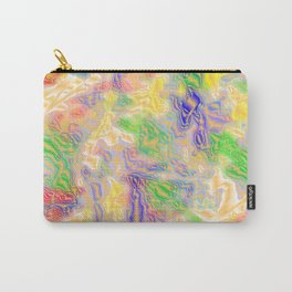 many colorful strokes painted Carry-All Pouch