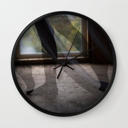 """""""She sifts through the spaces in this foreign place."""" Wall Clock"""