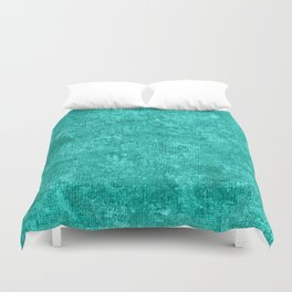 Turquoise Oil Painting Color Accent Duvet Cover