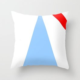 Couleurs imaginaires :Drapeau de Monsalvat. Throw Pillow