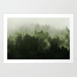Drift - Green Mountain Forest Art Print