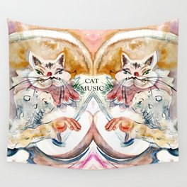 Cat Music Wall Tapestry