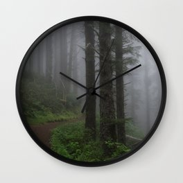 Forest of Fog Wall Clock