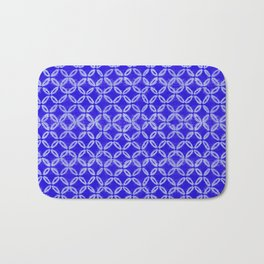 tie dye texture with geometric border Bath Mat