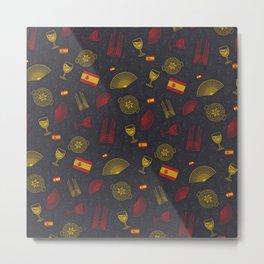 Spanish pattern Metal Print