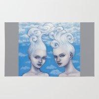 gemini Area & Throw Rugs featuring Gemini by Artist Andrea