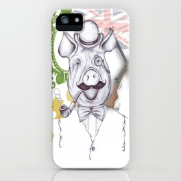Stately Hog iPhone Case