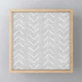 Mudcloth Big Arrows in Grey Framed Mini Art Print
