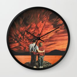 Hearts on fire Wall Clock