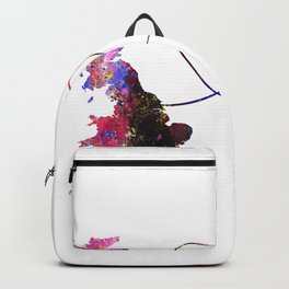 Britain to BriBritain to Guyana  Quote Art Design Backpack