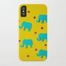 Playful Elephants Slim Case iPhone X