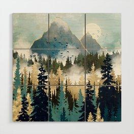 Misty Pines Wood Wall Art