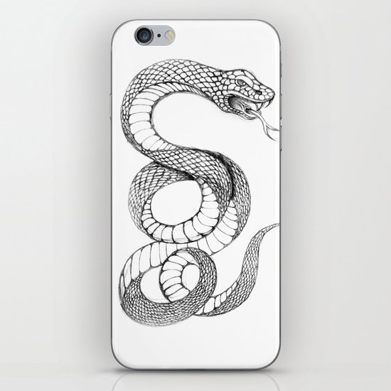 snake 02 iPhone & iPod Skin