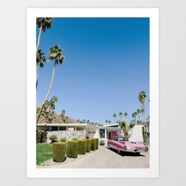 Mid-Century Pink Caddy Art Print