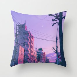 Lilac for a Night Throw Pillow