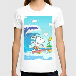 snoopy surfing T-shirt