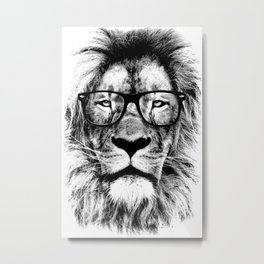 The King Lion of the Library Metal Print