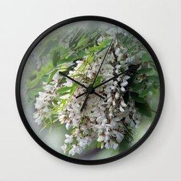 white flowers in my garden Wall Clock